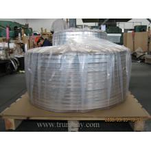 Tiras de alumínio para uso de cabos