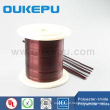IEC padrão IOS qualidade plana de alumínio esmaltado fio