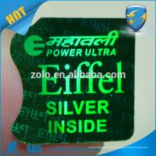Etiquetas personalizadas de holograma personalizados retângulo de segurança adesivos personalizados