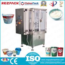 Yogurt automático que pesa enchendo a máquina de embalagem plástica do copo da selagem (RZ-R / 2R / 3R)