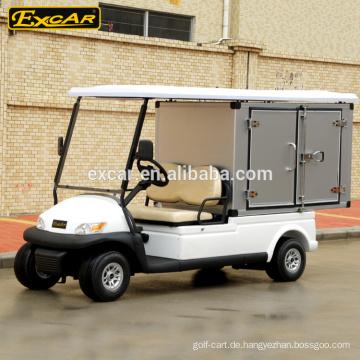 Golfwagen 2 Sitze Elektro-Kraftstoff-Typ und Elektro-Golfwagen mit Cargo-Box