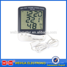 Digital Thermometer with Humidity with Aclock with Lagar Digital Screen thermometer Hygrometer TA218A