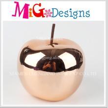 Prateleira de cerâmica grande pintada à mão com Apple Design