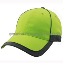 Capuchon de baseball personnalisé à base de 100% polyester en matière de sécurité (TMB0682-1)