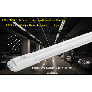 Microwave Radar Motion Sensor LED T8 Tube