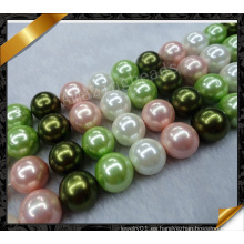 Joyas de perlas multicolores, joyería de moda perla colgante collar (APS030)