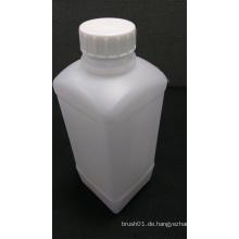 1L quadratische weiße Plastikflasche