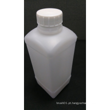 Garrafa de plástico branco quadrado 1L