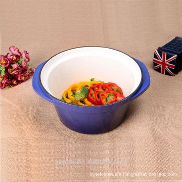 non-stick deep stew pot metal cauldron