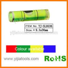 Цилиндрический пузырьковый уровень с стандартом ROHS YJ-SL9536