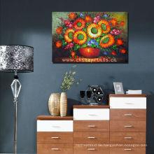 POP Sonnenblume Handgemachtes Ölgemälde, Ohne Rahmen