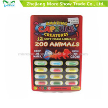 Magic Growing Zoo Animal Capsules Expanding Sponge Foam Capsule