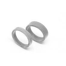 Stainless Steel Simple Weaving Indian Wedding Rings