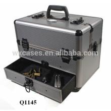 caso de arma de espingarda de alumínio forte com fabricante de inserção & gaveta de espuma personalizado