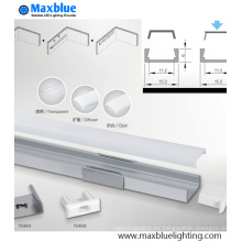1506 Caja de aluminio del perfil con la cubierta para la iluminación de la tira del LED