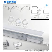 1506 Caixa de alumínio do perfil com tampa para a iluminação da tira do diodo emissor de luz