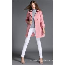 2016 Winter Fashion Design Pink Women Coat