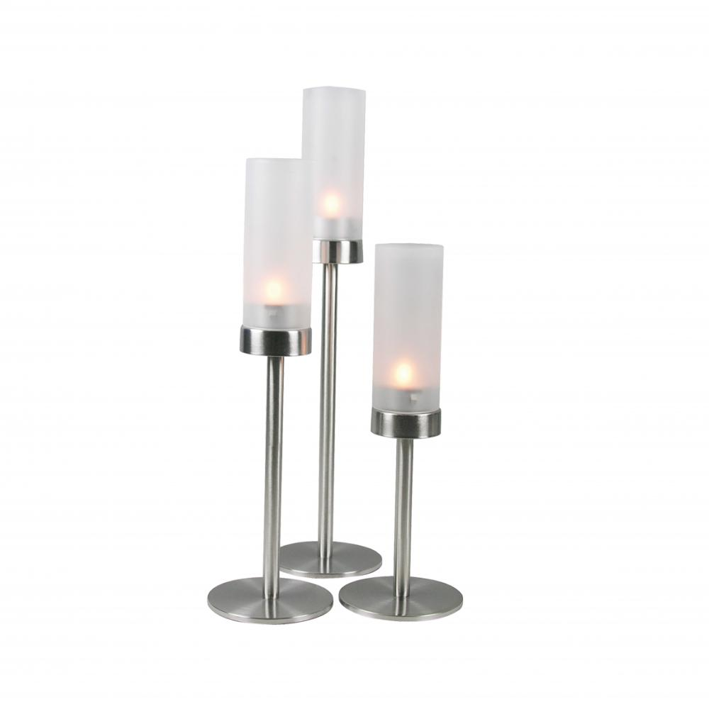 metal glass candle holder