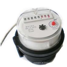 Medidor de água AMR / função de saída de pulso Medidor de água / medidor de água de plástico simples