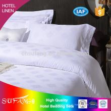 Roupa de cama / 60 * 60s 300TC cetim 4pcs conjunto de cama jacquard whitel