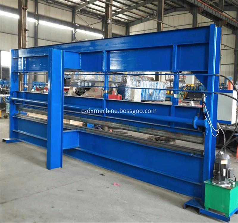 Hydraulic metal sheet roll bending machine