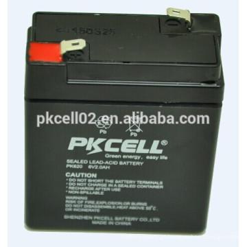 Bateria de ciclo profundo Bateria de alto rendimento Bateria 6v 2ah PKCELL