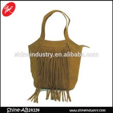 PU handbag/ PU tassels Ladies shoulder bag/macrame PU ladies shoulder bag