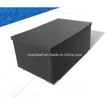 Rattan Box für Outdoor Lagerung mit L132 Cm