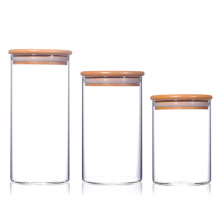 Glass Canister Set with Bamboo Lid