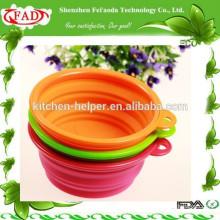 Fabricação Profissional Unbreakable Silicone Dog Salad Bowl