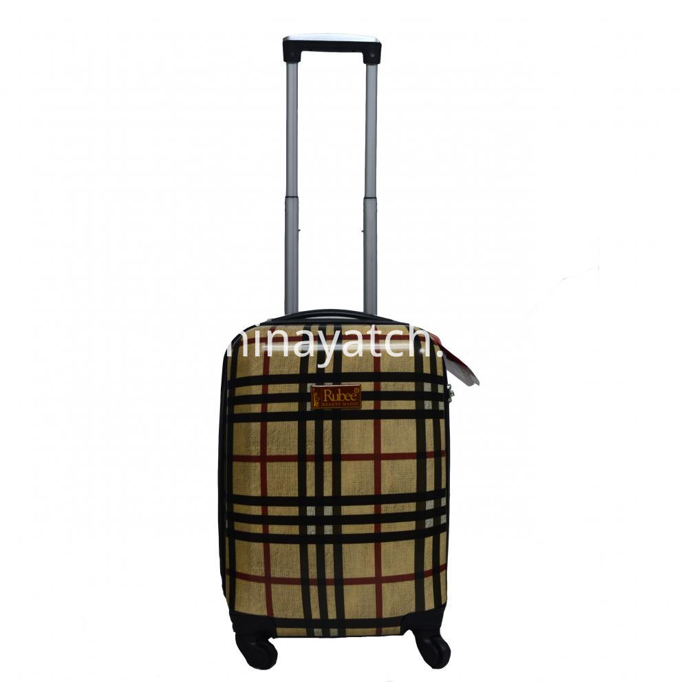 Buberry grid PC luggage