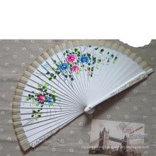 Costillas manuales del ventilador de la mano de bambú manual directo