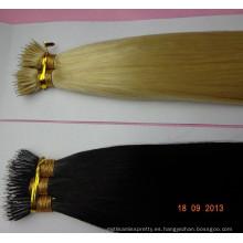 Extensiones nanas dobles dibujadas del pelo del anillo de las extensiones nanas del pelo Extensión al por mayor del pelo del anillo