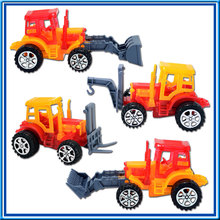 DIY Block Pull Back Engineer Truck Education Toy with Candy