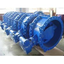 BS5155 Doppel-Exzenter-Doppelflansch-Absperrklappe, mit Getriebe, Baureihe13 / 14, DIN3202 F4, Pn10 / Pn16 / Pn25