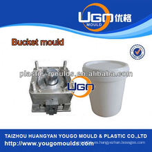 Molde de plástico de alta precisión molde de inyección de precio barato para el molde de cubo de plástico en China
