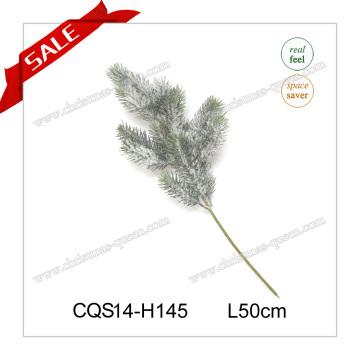 Decoración al aire libre de Navidad de plástico aguja ramas de pino con flores H35-110cm