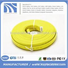 Cable plano colorido HDMI 1.4v 25FT ayuda 3D 1080P DVD HDTV LCD