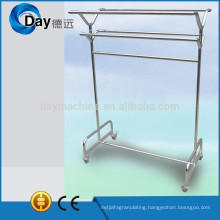 HM-43 stainless steel laundry hanger rack on wheel for cloth laundry