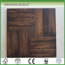 Marrón raspado a mano laminado pista de baile de madera