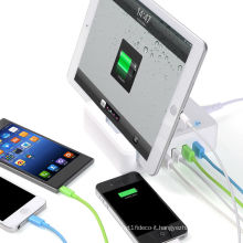 ORICO OPC-4US 4 port Desktop usb charger with Storage base to charge Ipad and smart phone