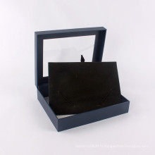 Emballage de bijoux de boîte-cadeau de papier de conception faite sur commande