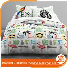 Fábrica chinesa vende tecido de folha de cama impresso 100% disperso