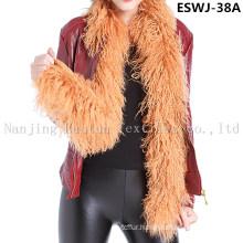 Long Pile Natural Mongolian Fur Scarf Eswj-38A