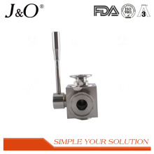 New Style Sanitary Clamp Stainless Steel 3 Way Ball Valve