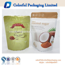 Snack packaging packet with zipper&window/Sugar/Snack zip lock bag with window