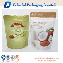Snack packaging packet with zipper&window/Sugar/Snack zip lock bag with window