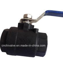 2PC Углеродистая сталь Полный порт плавающий шаровой клапан