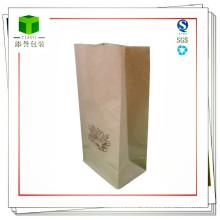Saco de papel quadrado inferior para alimentos ou cosméticos
