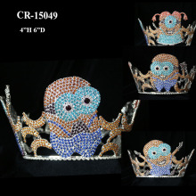 New Fashion Rhinestone Full Round Minions Crown